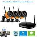 720P Wireless Network Video Recorder 4ch 720P Digital Video Wireless Surveillance CCTV Camera DVR Kits