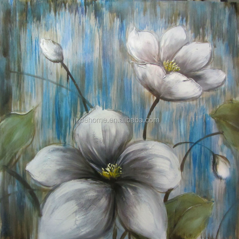 100% Hand painted top quality modern flower oil painting, fine art collection, arts and crafts