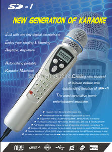 SD1 Music Video Player in Karaoke Microphone