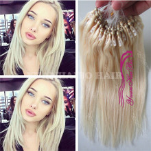 Quality 9A Grade #613 silky straight mongolian remy hair 1g/strand micro loop ring hair extension