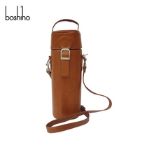 hot selling bottle leather wine luggage carrier