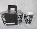 2015 Wholesale cheaper porcelain color gift box packaged stock mug set