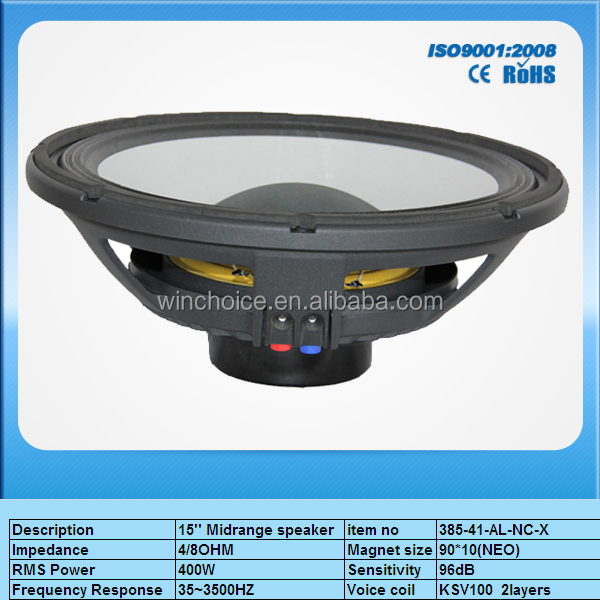 15'' RCF subwoofer 400W active speaker with neo magnet, competition subwoofer driver,portable spekers with subwoofer
