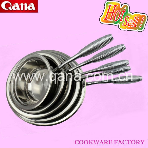 5pcs three-step bottom cooking pot cookware set stainless steel milk pot wholesale