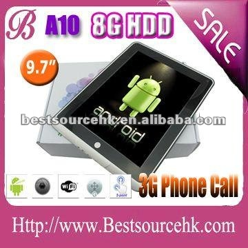 Unbelievable price! Best quality low price! 9.7 inch android 4.0 tablet pc 3G build in