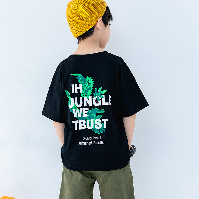 2019 hot new products casual cotton print wet style high quality boys shirt for sale