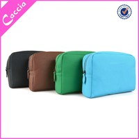 fashion lady cosmetic bag pu middle travel toiletry bag