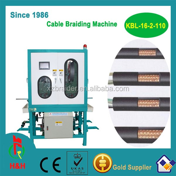 16 spindles coaxial cable braiding machine