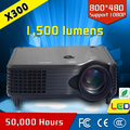Top rank 1500 lumens 800*480 download hindi video hd songs data show 1080p hd projector cre x300