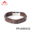 Fashion Genuine Leather Bracelets customizable Men woven Wristband Bangle mens bracelets