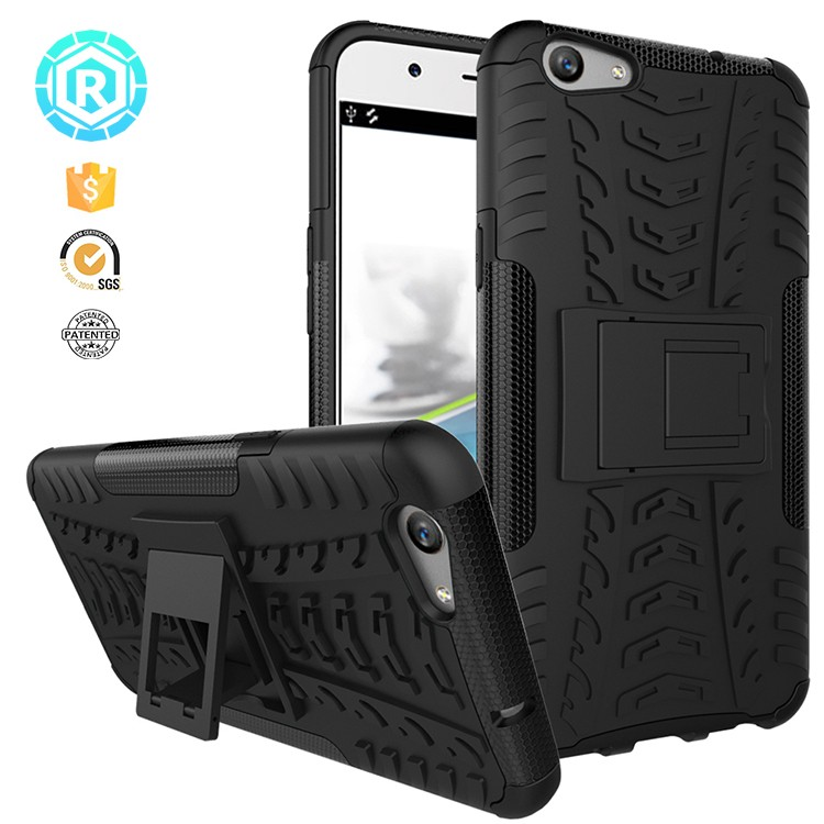 Mobile phone accessories , shockproof stand phone cover for Oppo f1s back cover case 2 in 1