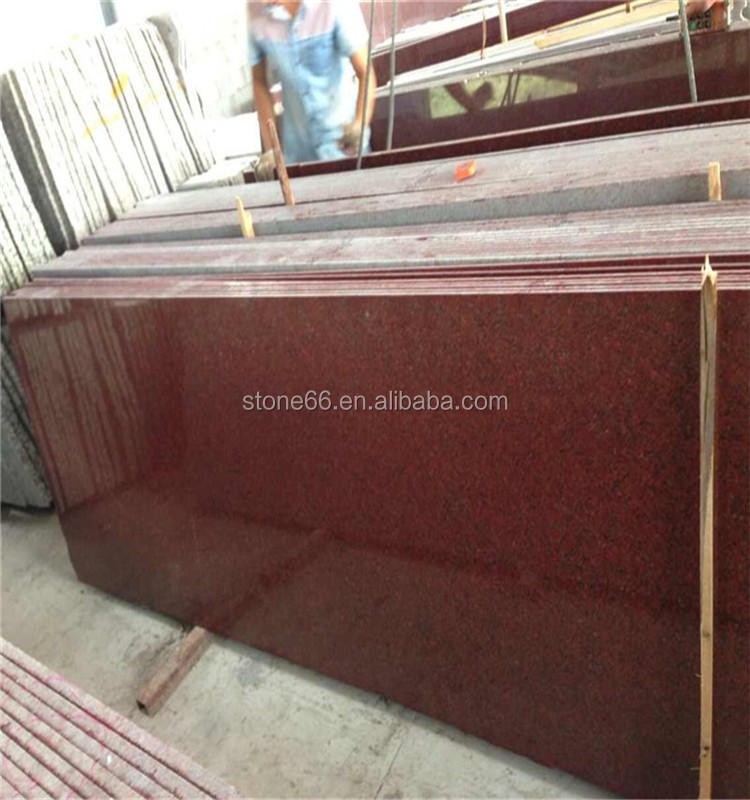 Goode quality india red granite polished finished best sale modern design