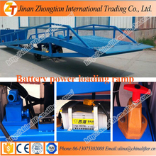 AC+DC power hydraulic mobile loading ramp easy operation container lifter