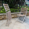 Outdoor poly wood folding aluminum chair