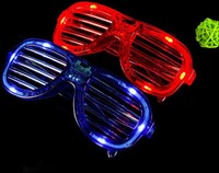 Best price New and Cute Shutters Shape LED Flash Glasses For Dances / Party Supplies Decoration 100pcs
