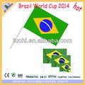 Polyester Brazil Hand Flag For World Cup