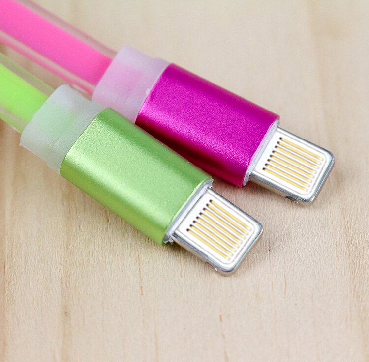 Hot selling Flat Cable with Alumimum shell flat design USB Cable for iphone