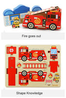 3D Wooden Toy Firetruck Adult Jigsaw Puzzles
