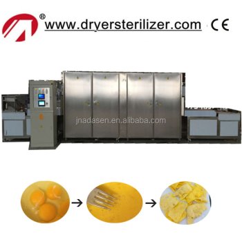 New products tunnel type microwave drying machine for egg snacks