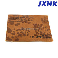 Fashion rectangle size label garment leather label