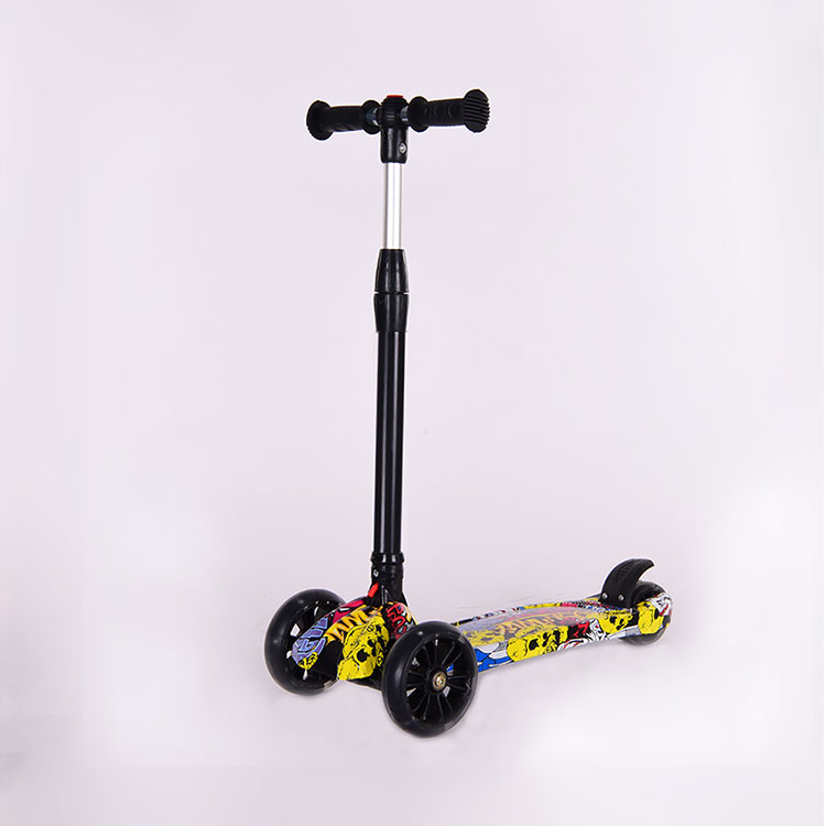 Low price aluminum big wheels kick scooter air wheel children scooters