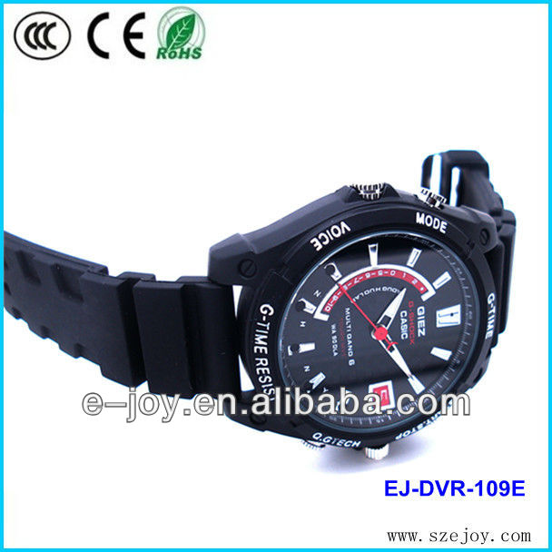 EJ-DVR-109E H3 HD1920*1080P water proof IR night vision camera watch,voice recorder camera watch