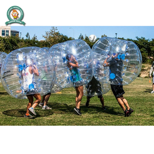 Outdoor soccer bubble suit ball human body football inflatable zorb ball for sale