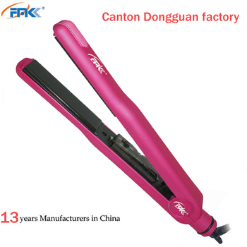 FMK pro nano titanium 1 inch flat iron hair straightner 455f custom hair flat iron ceramic rubber rose color hair straighteners