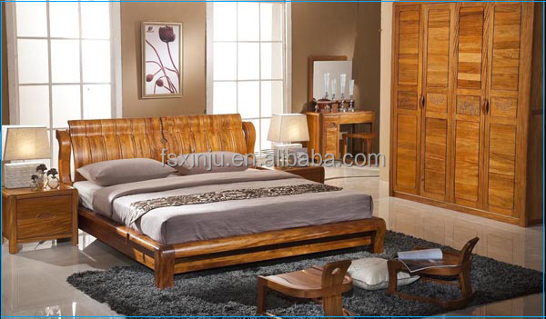 elegant bedroom furniture set / solid wood king size bedroom furniture B3102