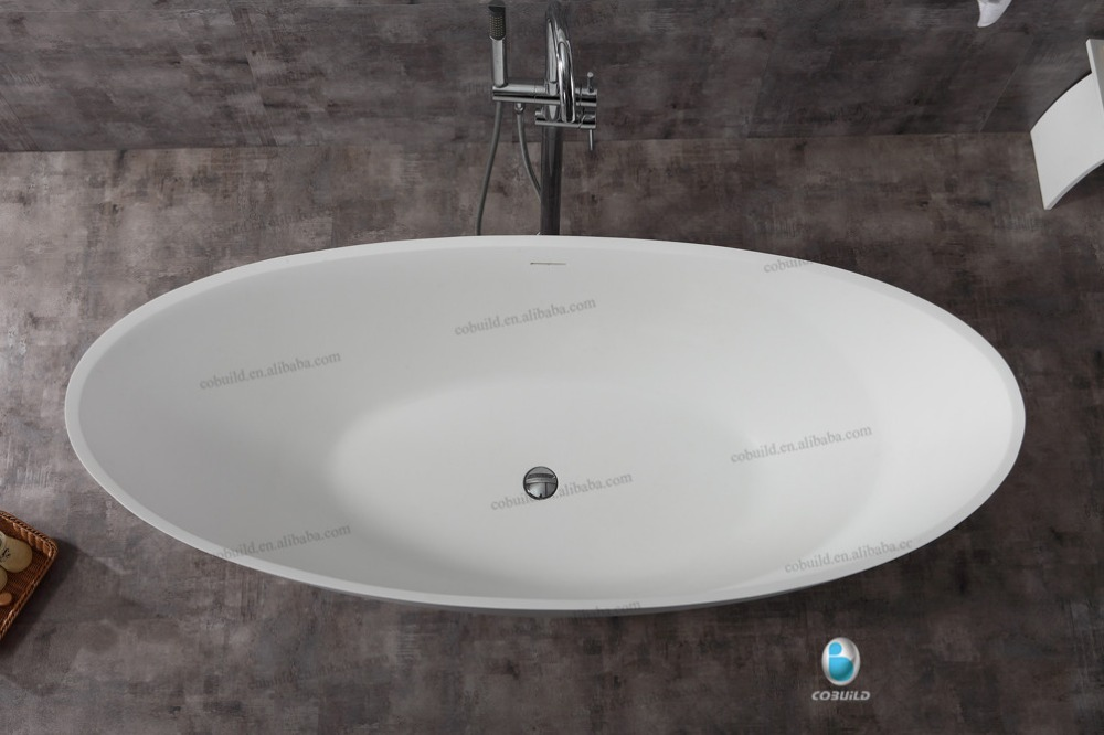 <strong>K16</strong> OVAL free standing bathtubs , stone resin bathtub manufacturer, solid surface oval stone bathtub
