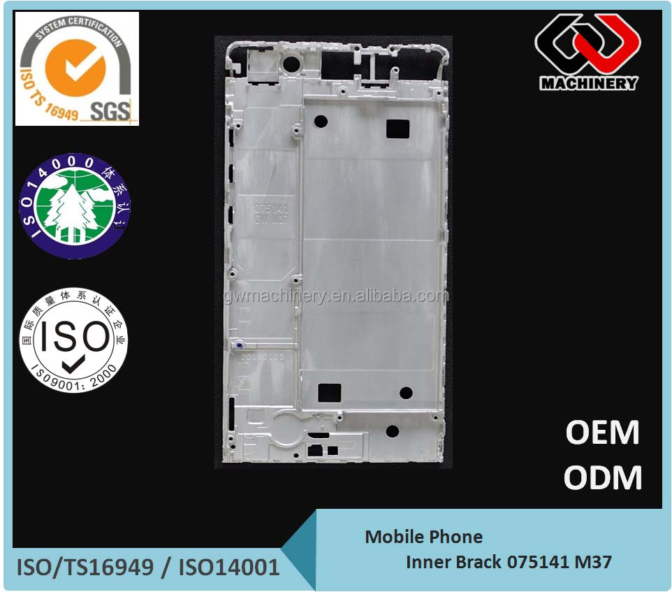 China manufacturer mobile phone mid Bezel - CNC Machining mid frame - Aluminum Die Casting frame