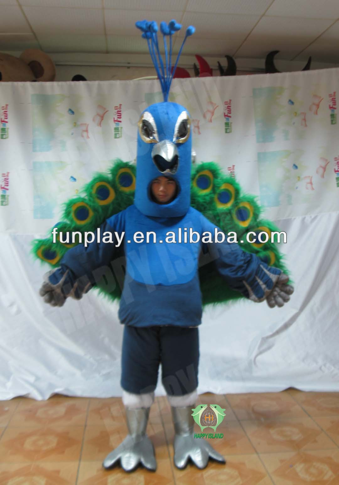 2014 HI open face peacock costumes
