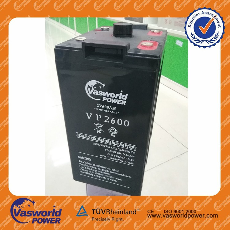Rechargeable 600Ah 2V Battery UPS / Solar Power Storage Batteries