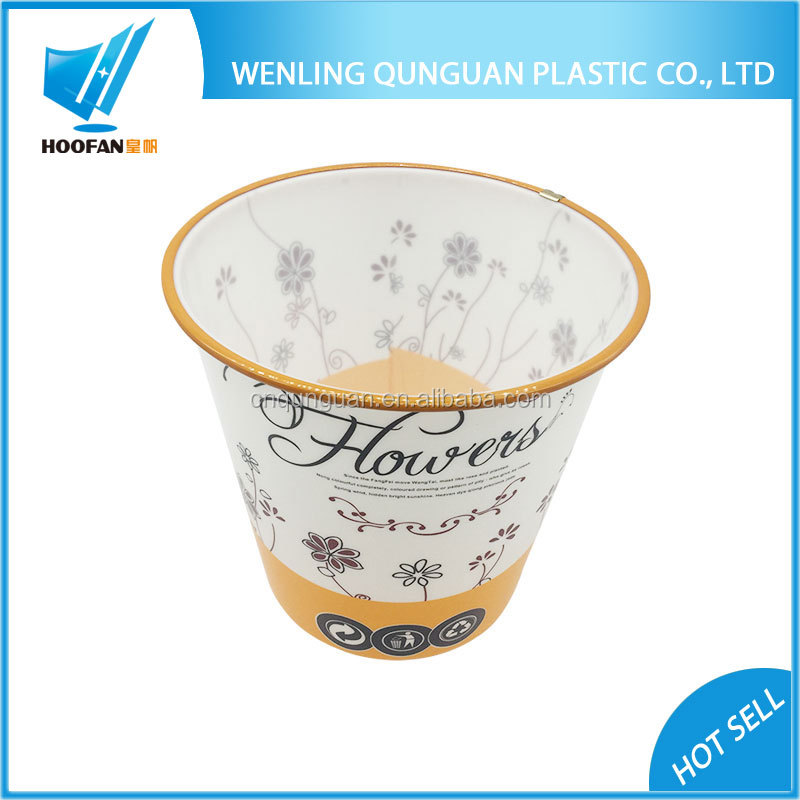 Hot Sale High Quality PP Home Mini Plastic Desktop Trash Can With Custom Printing