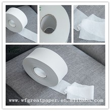 High quality 3ply jumbo toilet tissue color white roll paper