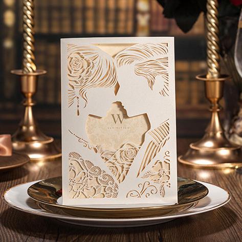 Romantic Wedding Gift For Groom : 2016 Romantic Unique Bride And Groom Wedding Vintage Invitation Cards ...