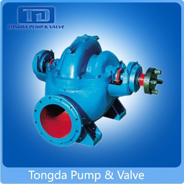 City Water Supply Usage High Capacity Electric Engine Horizontal Centrifugal Double Suction Pumps