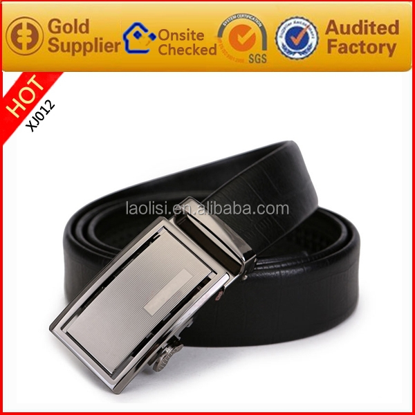 Simple Classic Stainless steel Automatic Buckle Genuine Leather Belts for men