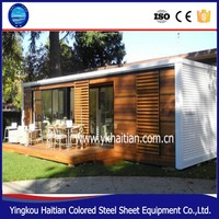 Sandwich panel house living 20ft container home ,durable wooden container house kits