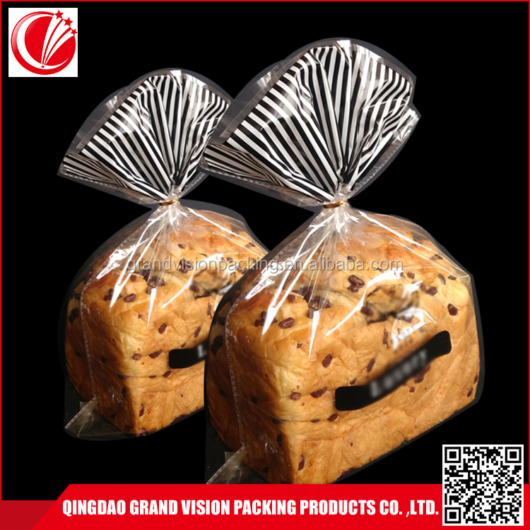 Logo Customized free sample MOQ=1000pcs printed plastic bread packaging bag