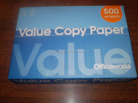 100% wooden pulp office Double A white A4 copy paper 80gsm