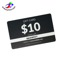 Customized printing plastic pvc gift voucher card