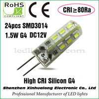 High Color Rendering Index 1.5W Silicon G4 LED Lamp