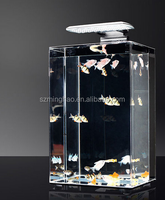 Clear large acrylic aquarium fish bowl led lights