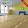 Gym Basketball Court Wood Look Pvc Floor Covering Rubber Flooring Tile