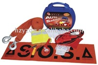 18PC box auto emergency kit: blue