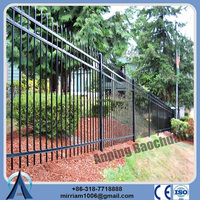 made in china Very Strong and Galvanized Surface treatment Decorative black antique cheap wrought iron picket fence panels
