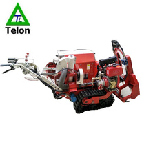 Hilly land small hand-walking rice combine harvester of price