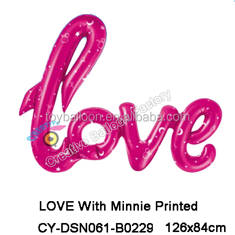 foil mylar Large Love Letter Balloon for Anniversary Wedding valentines party decoration