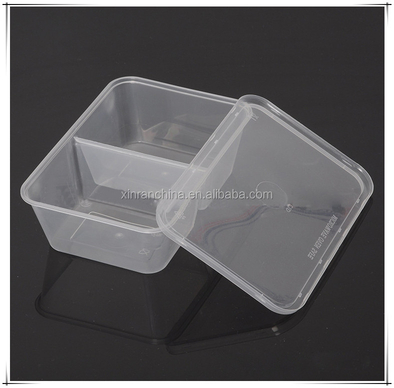 Disposable Plastic Compartment Food Container/clear plastic food disposable container